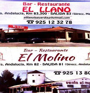 BAR RESTAURANTE EL LLANO – BAR RESTAURANTE EL MOLINO